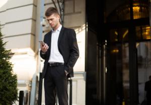 garnitur na miarę dla biznesmena