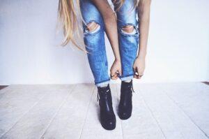 obcasy, spodnie