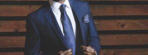 elegancki garnitur - odzież firmowa